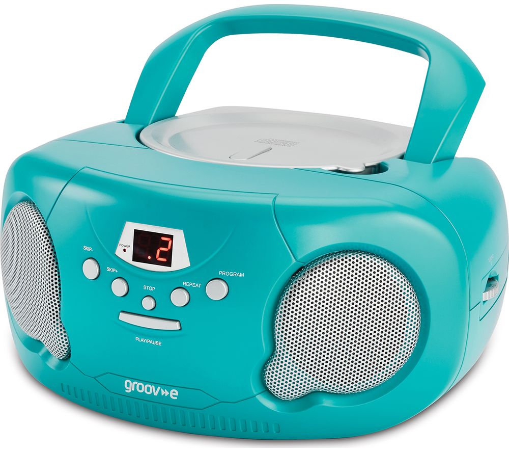 GROOV-E Original Boombox GV-PS733 Portable FM/AM Boombox - Green
