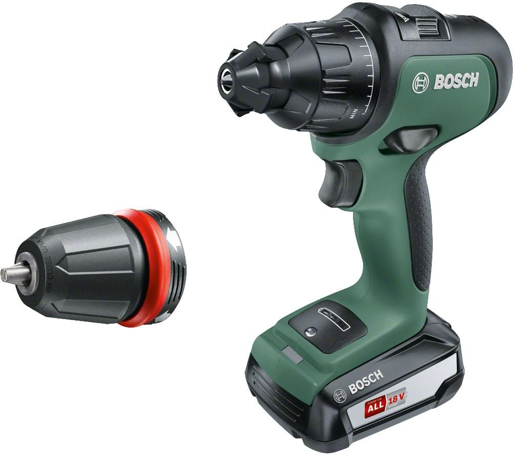 BOSCH AdvancedImpact 18 Cordless 2-Speed Combi Drill - Green & Black, Green