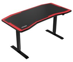 D16E Carbon Gaming Desk – Black & Red
