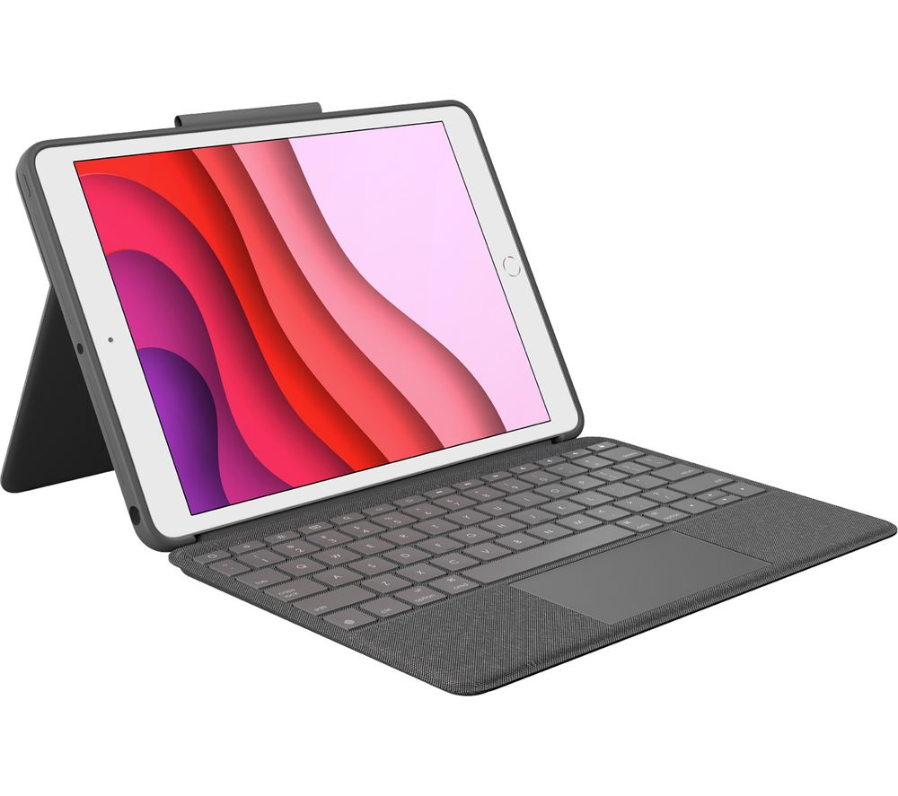 "LOGITECH Combo Touch iPad 10.2"" Keyboard Folio Case - Grey"