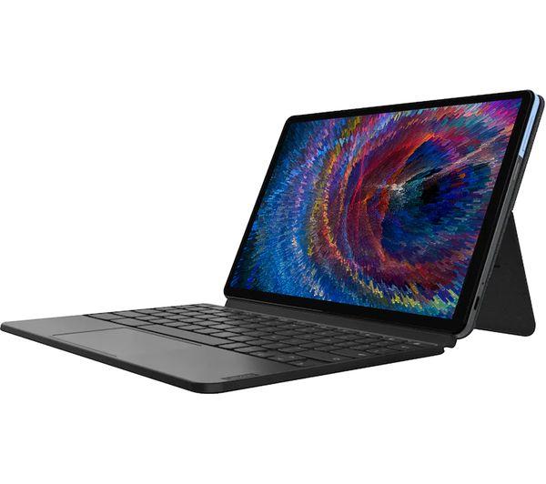 "Image of LENOVO IdeaPad Duet 10.1"" 2 in 1 Chromebook - MediaTek P60T, 64 GB eMCP, Blue & Grey, Blue"