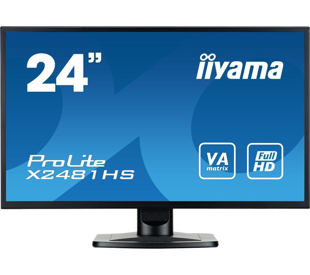 "IIYAMA ProLite X2481HS-B1 Full HD 24"" LCD Monitor - Black"