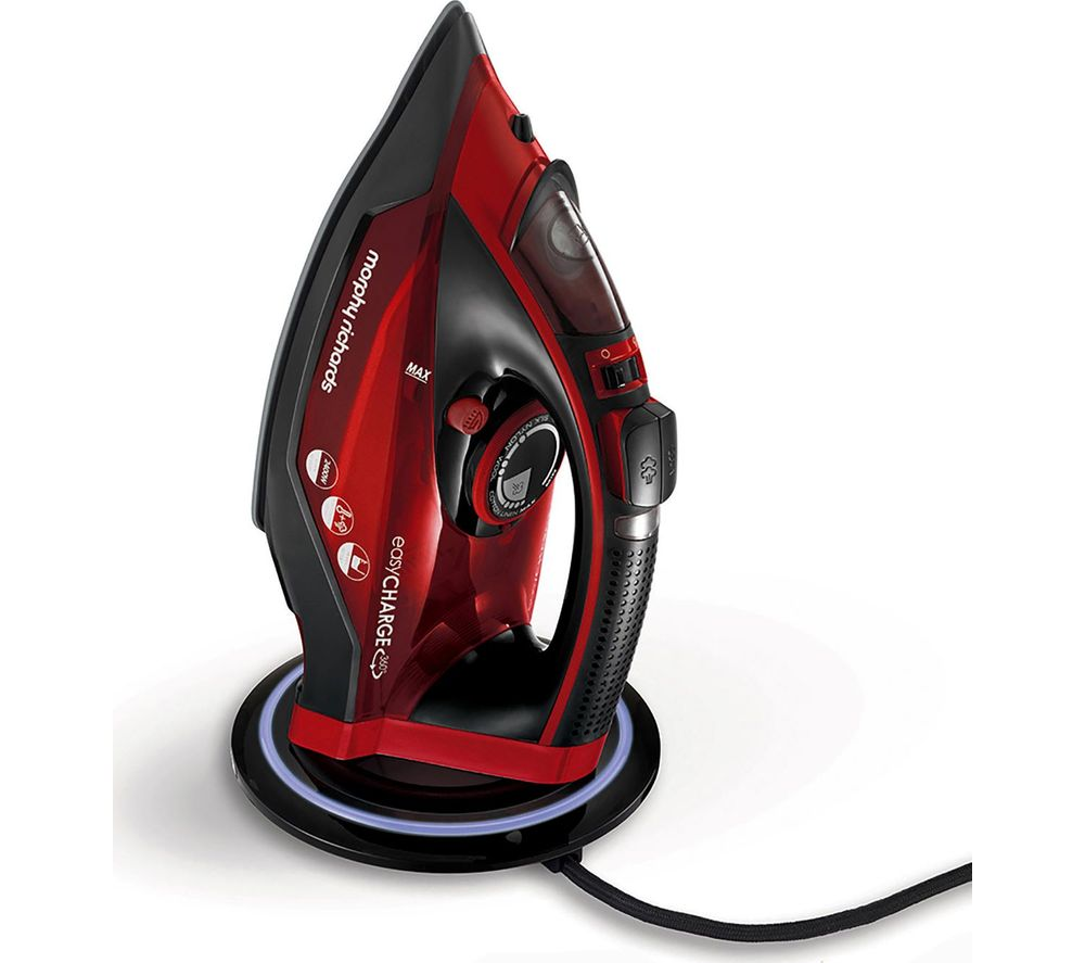 MORPHY RICHARDS Easycharge 303250 Cordless Steam Iron - Red & Black
