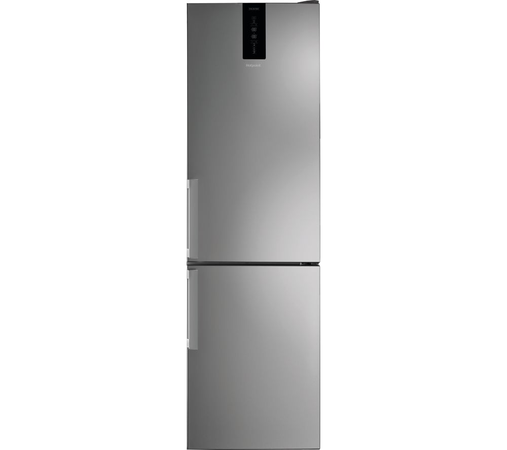 HOTPOINT Day1 H7T 911T MX H 1 70/30 Fridge Freezer - Silver, Silver