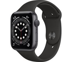 Watch Series 6 Cellular - Space Grey Aluminium with Black Sports Band, 44 mm