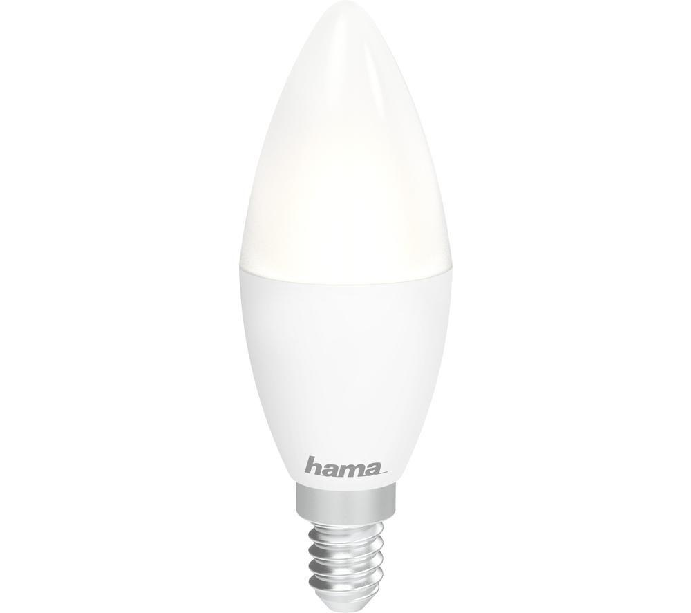HAMA 176586 White WiFi LED Light - E14