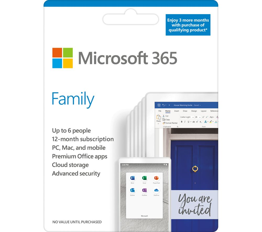 MICROSOFT 365 Family - 15 months for 6 users
