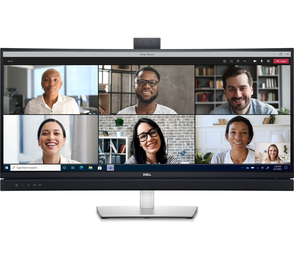 """DELL C3422WE Wide Quad HD 34"""" Curved LED Monitor - Silver & Black"""