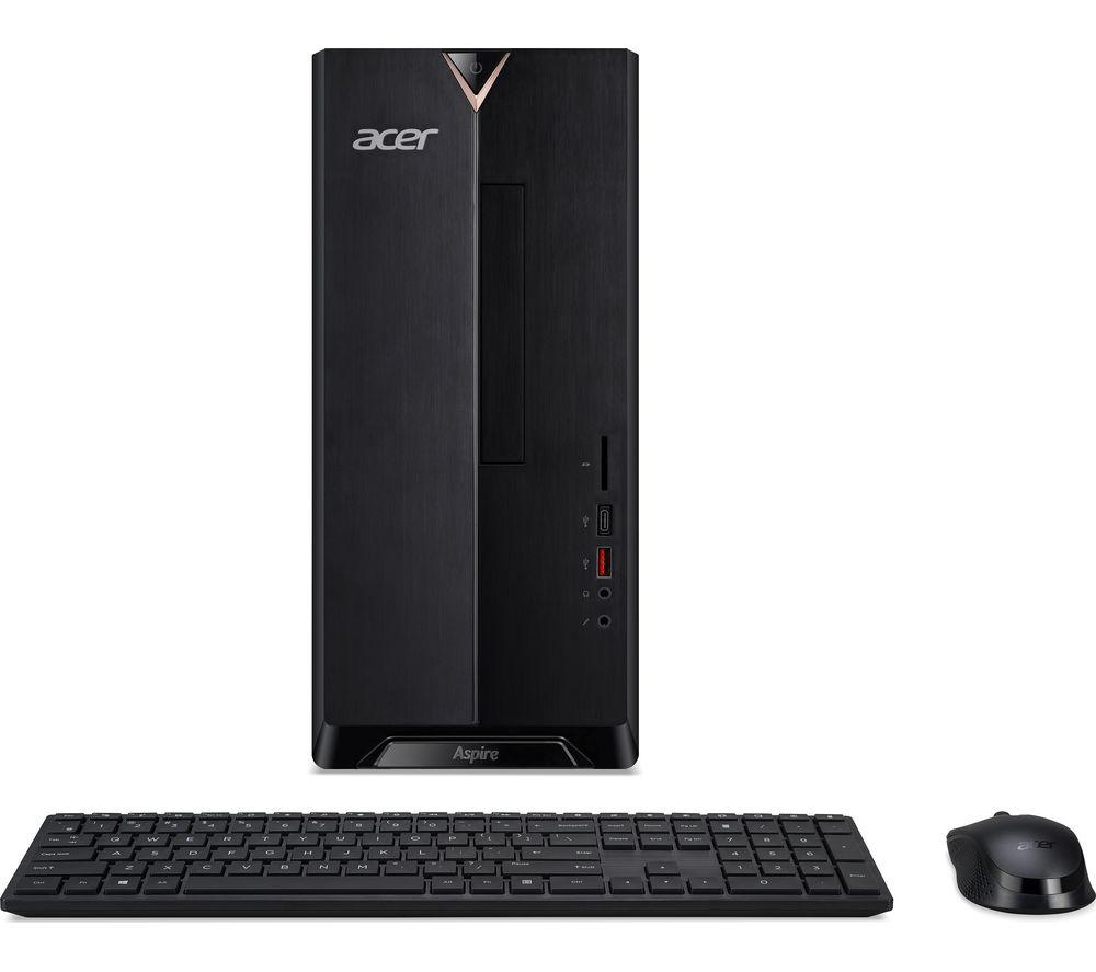 Image of ACER Aspire TC-1660 Desktop PC - Intel® Core™ i7, 1 TB HDD & 256 GB SSD, Black