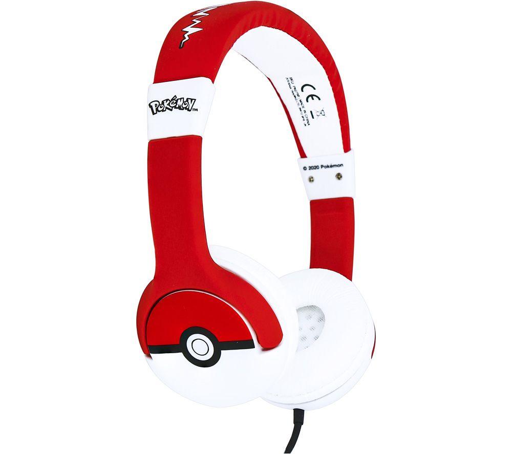 OTL Pokémon Pokéball PK0758 Kids Headphones - Red & White