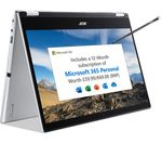 £429, ACER Spin 1 14inch 2 in 1 Laptop - Intel® Pentium® Silver, 128 GB SSD, Silver, Windows 10 S / Free Upgrade to Windows 11, Intel® Pentium® Silver N6000 processor, RAM: 4GB / Storage: 128GB SSD, Full HD touchscreen, 1 year subscription to Microsoft 365 & 1 TB OneDrive,