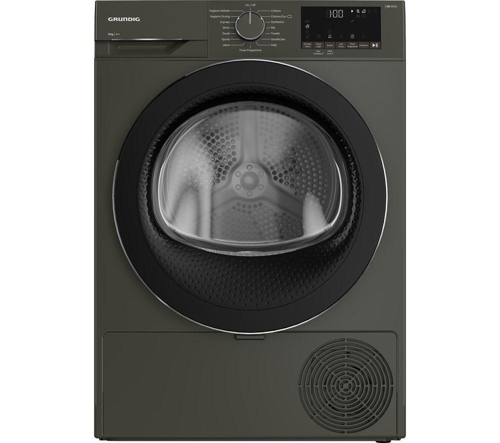 GRUNDIG GT54923CG 9 kg Heat Pump Tumble Dryer - Graphite, Graphite