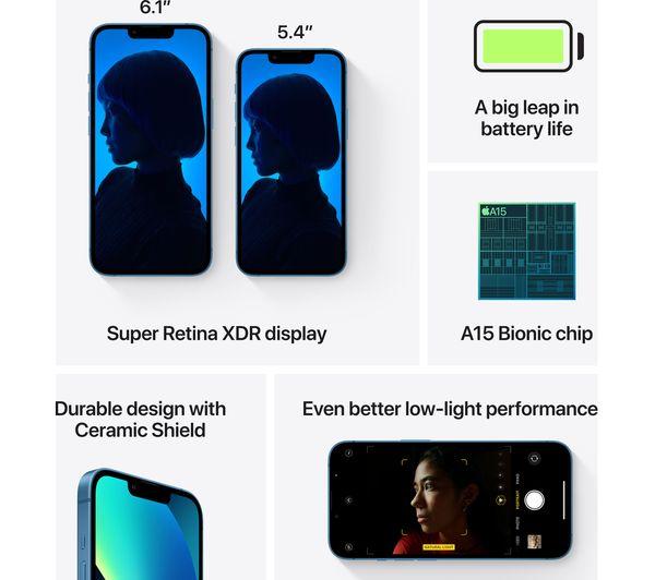 Apple iPhone 13 mini - 128 GB, Blue 6