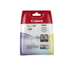 CANON PG-510/CL-511 Black & Colour Ink Cartridges - Twin Pack