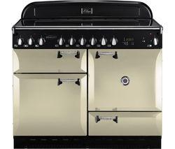 RANGEMASTER Elan 110 Electric Ceramic Range Cooker - Cream & Chrome