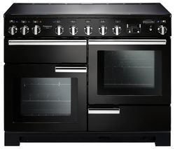 Professional Deluxe 110 Induction Range Cooker - Black & Chrome