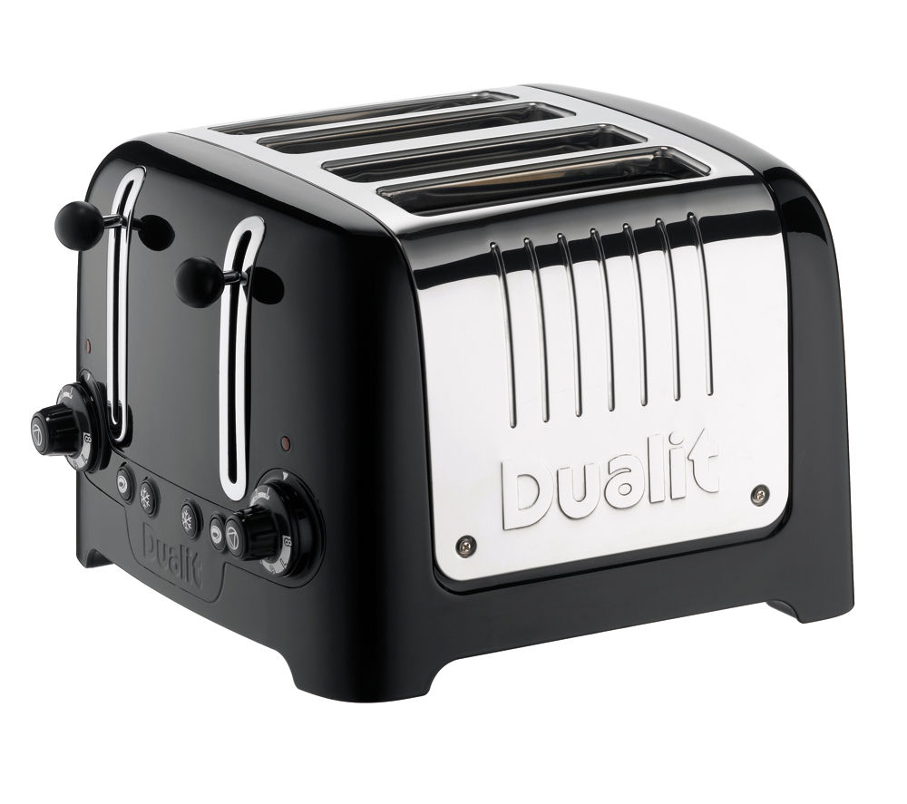 buy dualit dl4b 4 slice toaster black free delivery currys. Black Bedroom Furniture Sets. Home Design Ideas