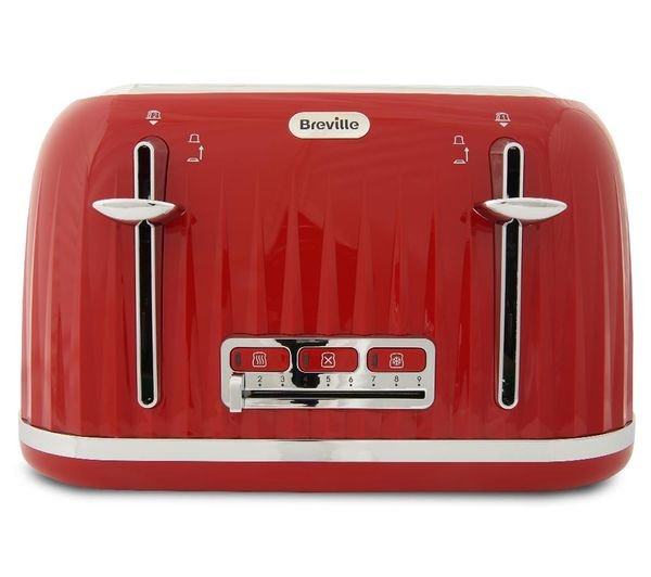 42a6d738fb53 Buy BREVILLE Impressions VTT783 4-Slice Toaster - Venetian Red ...