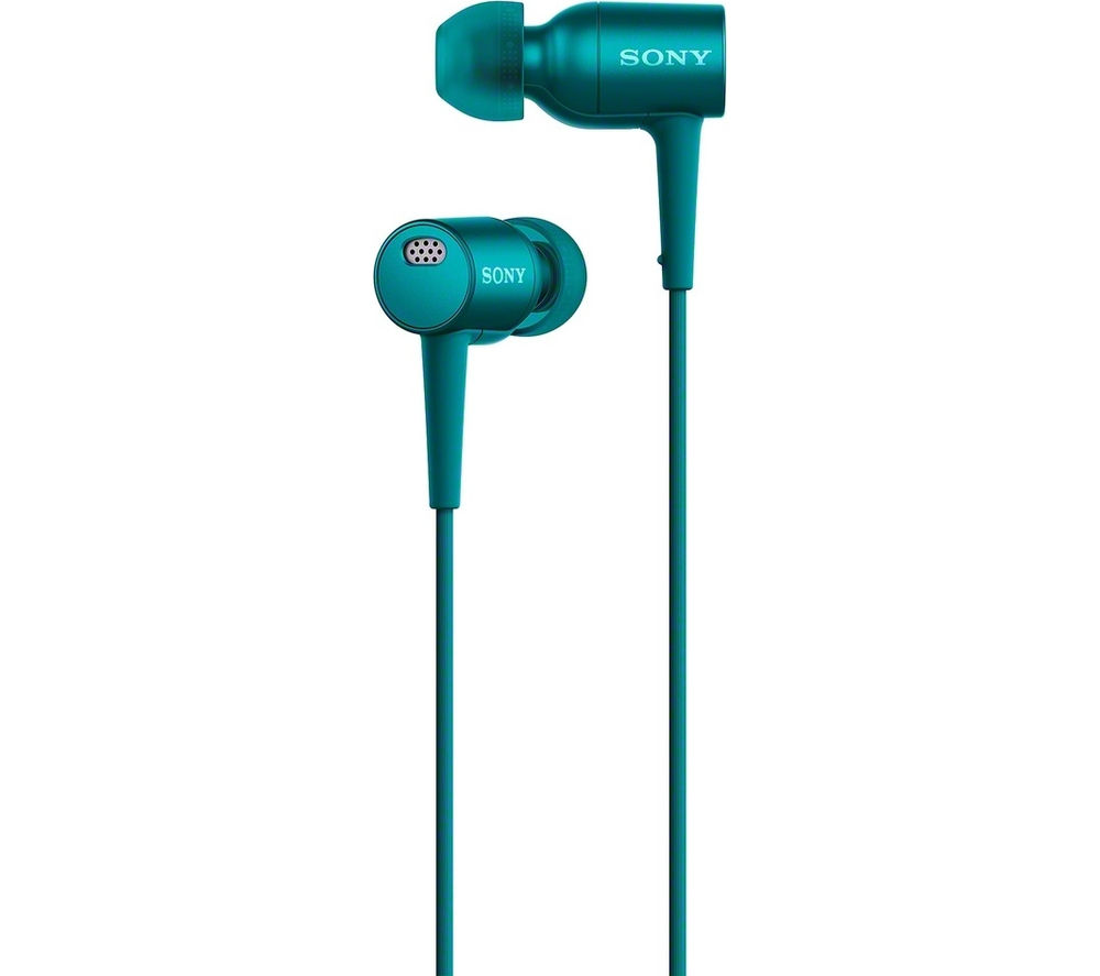 SONY h.ear in NC MDR-EX750NAL Noise-Cancelling Headphones - Viridian Blue