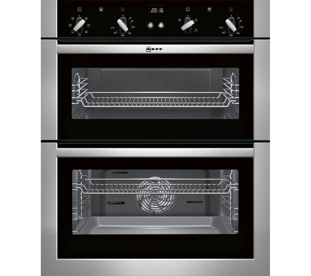 NEFF U17M42N5GB Electric Built-under Double Oven – Stainless Steel, Stainless Steel