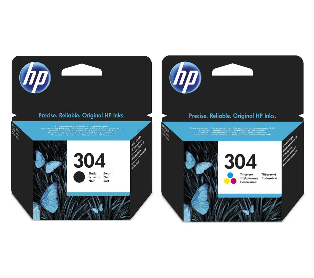 HP Combo 304 Tri-colour & Black Ink Cartridges - Twin Pack