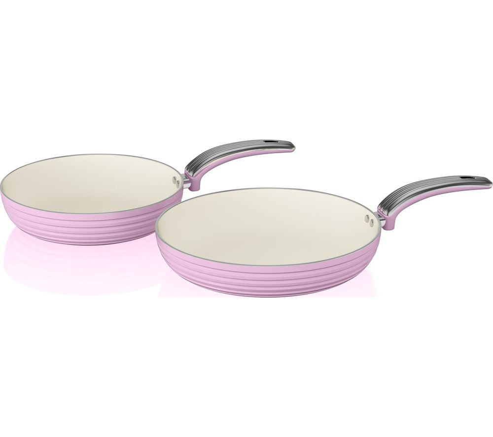 SWAN SWPS2010PN 2-piece Non-stick Frying Pan Set - Pink