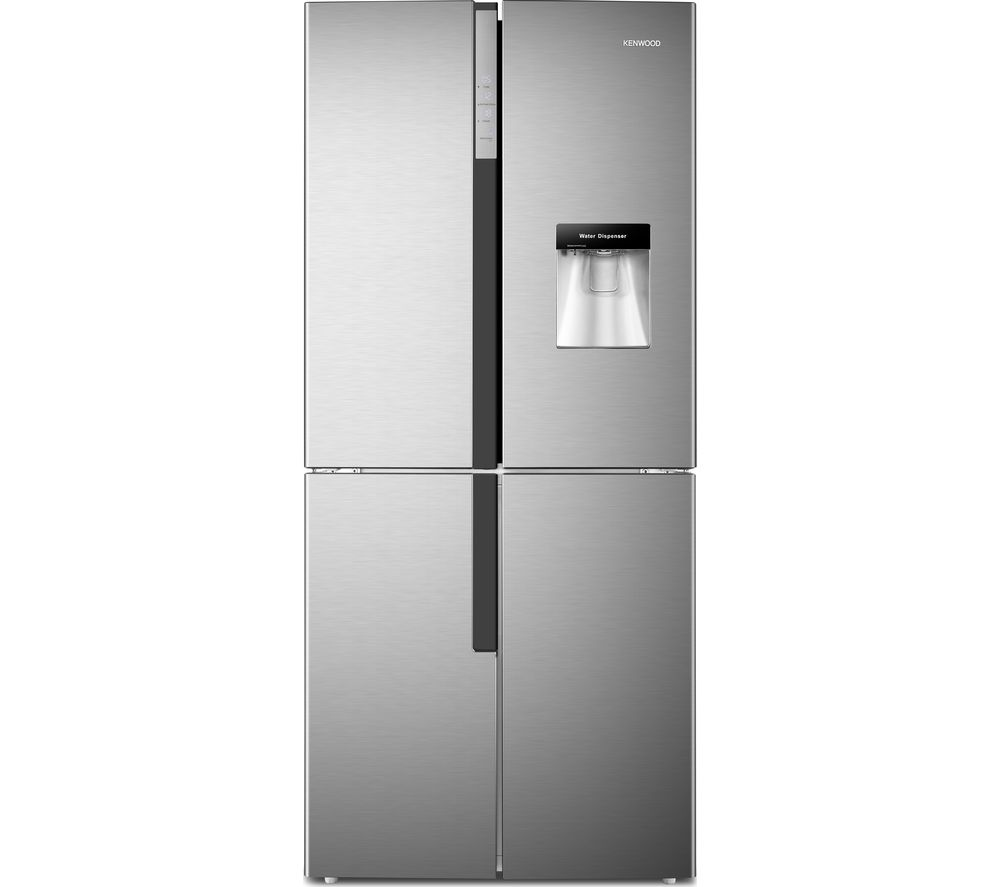 KENWOOD Slim American Style Fridge Freezer KSBS4DX17 50/50 - Inox