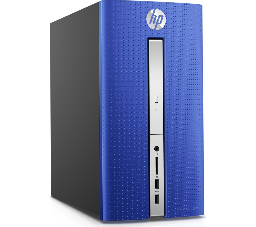 HP Pavilion 570-p057na Desktop PC - Blue + Office 365 Personal - 1 year for 1 user