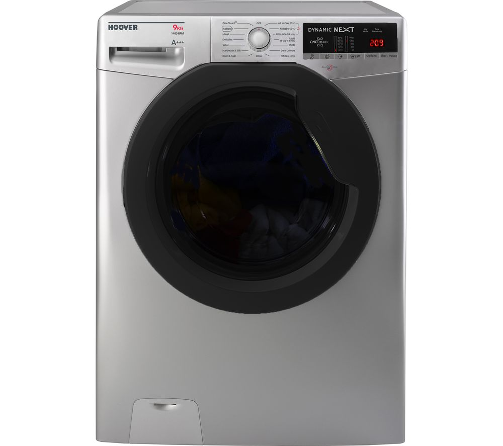 Image of HOOVER Dynamic DXOA 49AFN3G NFC 9 kg 1400 Spin Washing Machine - Anthracite, Graphite