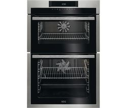 AEG SurroundCook DCE731110M Electric Double Oven - Stainless Steel & Black