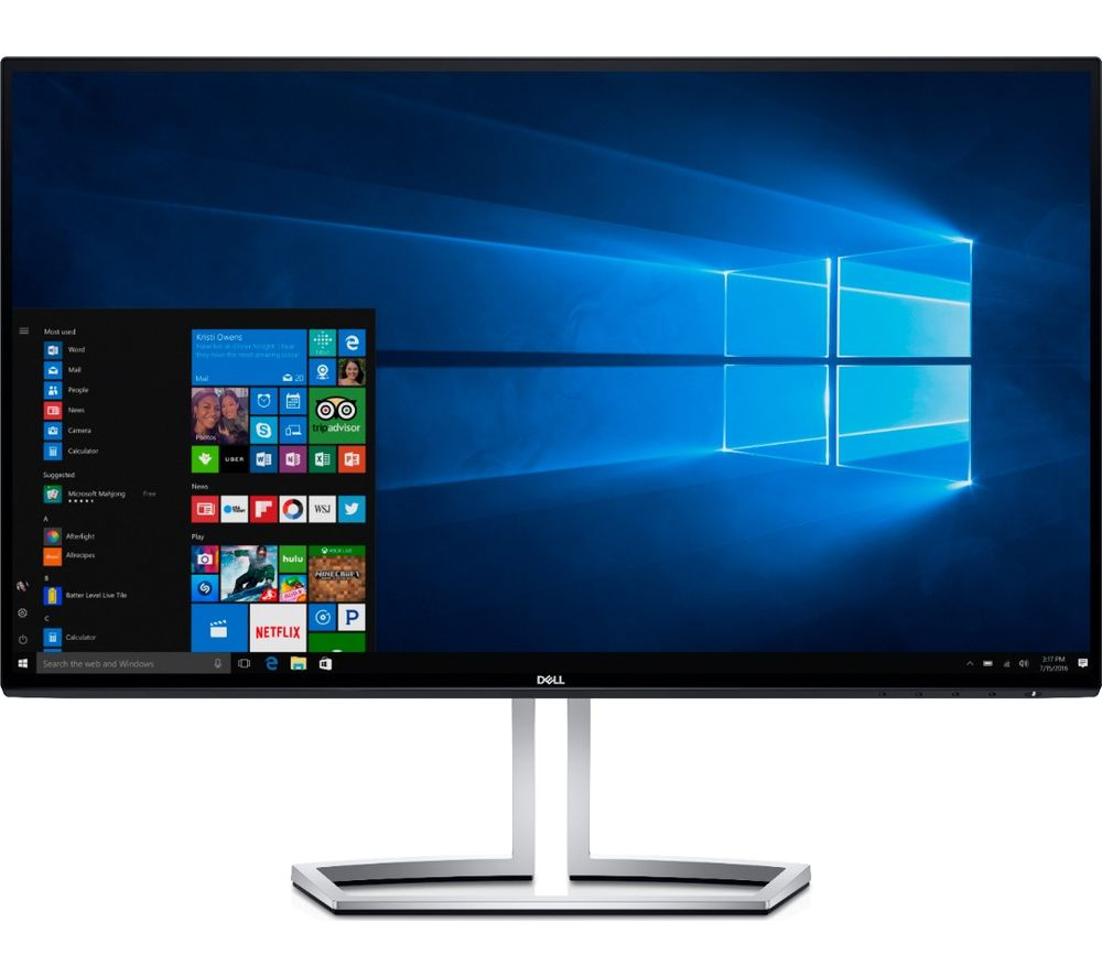 "DELL S2418HN Full HD 23.8"" IPS LCD Monitor - Black"