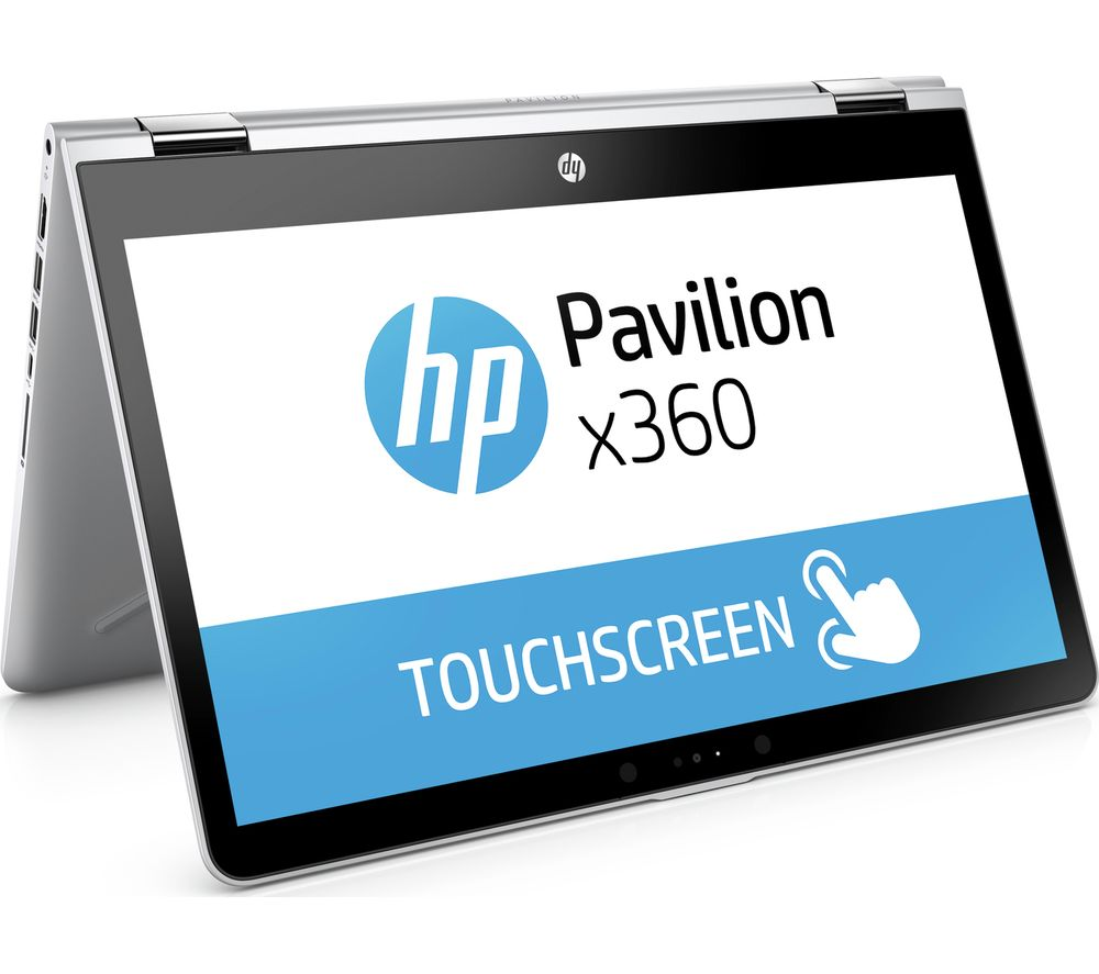 "HP Pavilion x360 14-ba055sa 14"" Touchscreen 2 in 1 - Silver + Office 365 Home - 1 year for 5 users + LiveSafe Premium 2018 - 1 user / unlimited devices for 1 year"