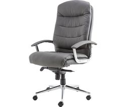 ALPHASON Empire AOC8218GRY Leather Tilting Executive Chair - Grey