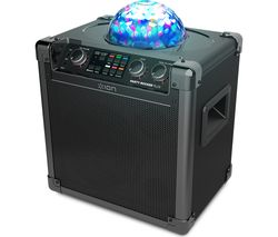 ION Party Rocker Plus Portable Bluetooth Wireless Speaker - Black