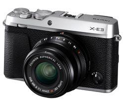 FUJIFILM X-E3 Mirrorless Camera with XF 23 mm f/2 Lens - Silver