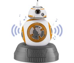 STAR WARS BB8 Portable Bluetooth Wireless Speaker - White, Gold & Grey