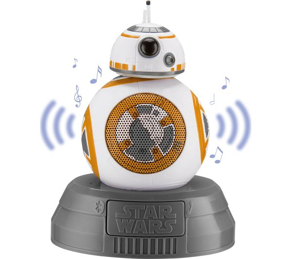 Image of STAR WARS BB8 Portable Bluetooth Wireless Speaker - White, Gold & Grey