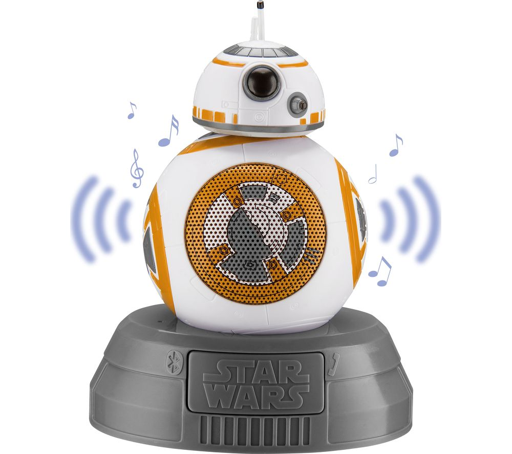 Image of STAR WARS BB8 Portable Bluetooth Wireless Speaker - White, Gold & Grey, White