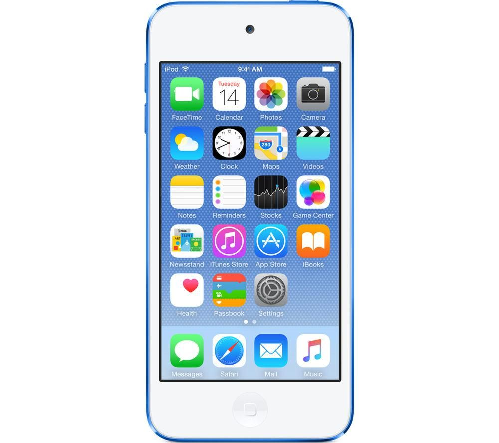 APPLE iPod touch - 128 GB, 6th Generation, Blue, Blue