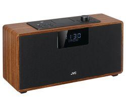 JVC RD-D328B Bluetooth All-in-one Hi-Fi System - Walnut