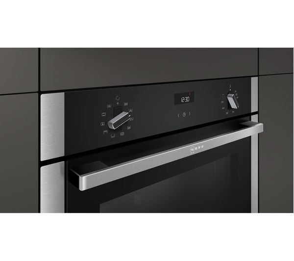 buy neff b3ace4hn0b slide and hide electric oven stainless steel free delivery currys. Black Bedroom Furniture Sets. Home Design Ideas