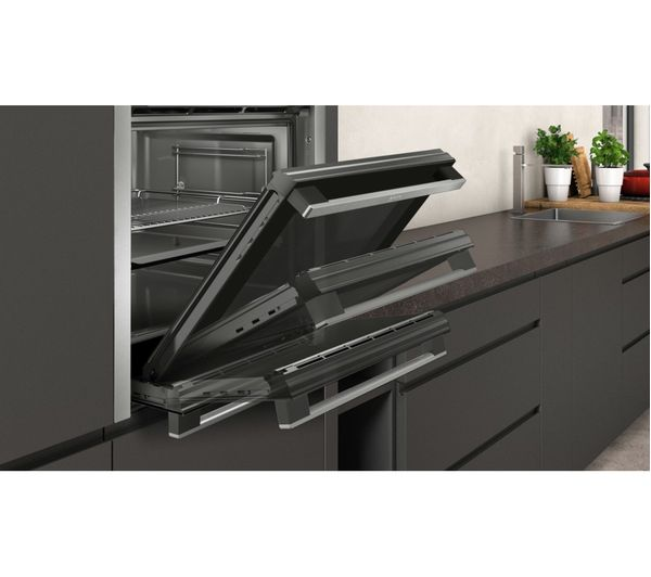 Buy Neff N50 B3ace4hn0b Slide Hide Electric Oven Stainless Steel Free Delivery Currys