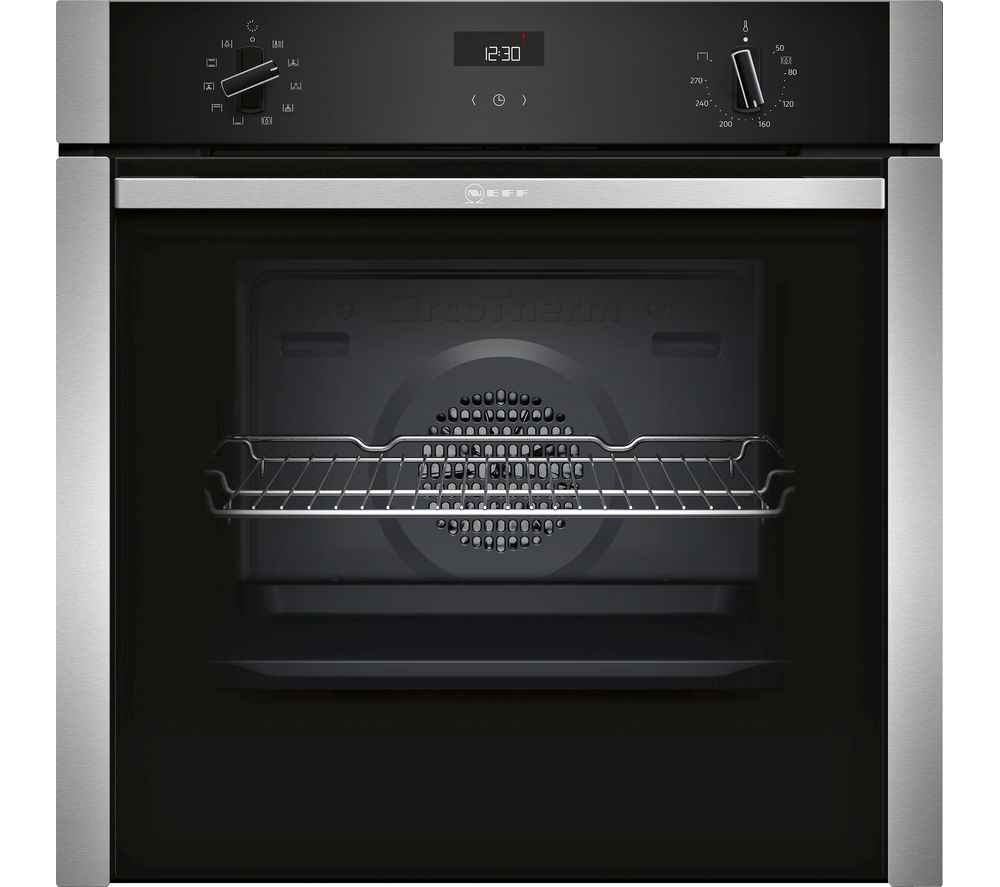 NEFF B3ACE4HN0B Electric Oven - Stainless Steel, Stainless Steel