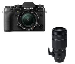 FUJIFILM X-T2 Mirrorless Camera with 18-55 mm f/2.8 Lens - Black