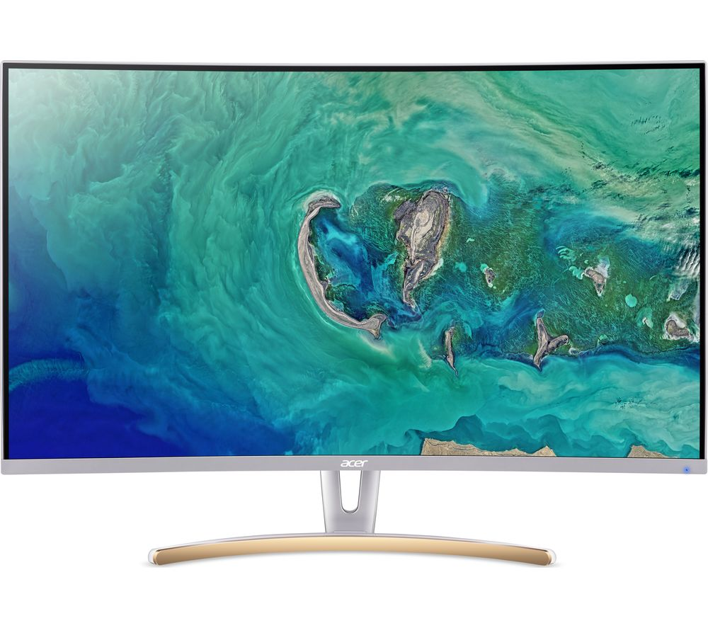 "ACER ED323QURwidpx Quad HD 31.5"" Curved VA LCD Monitor - White & Gold"