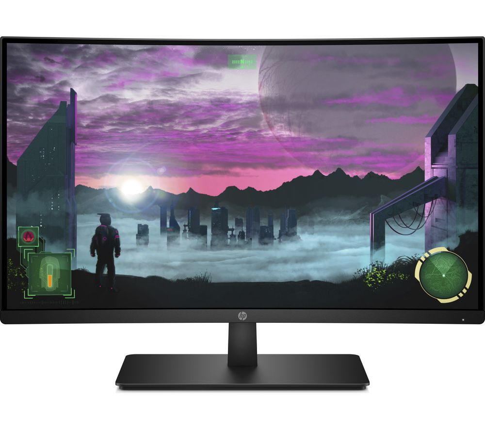 "HP 27x Full HD 27"" Curved LED Monitor - Black"