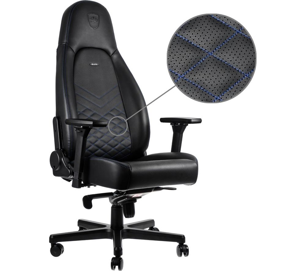 Image of ICON Gaming Chair - Black & Blue, Black