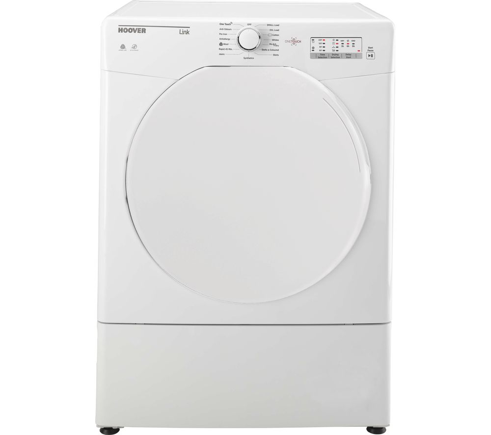 Hoover HLV9LF Link With One Touch 9kg Freestanding Sensor Vented Tumble Dryer - White
