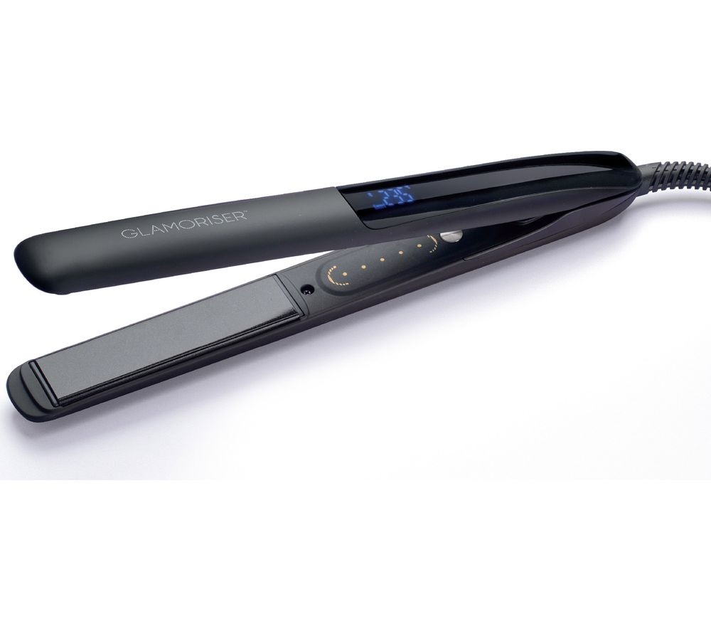 GLAMORISER Bluetooth Smart Hair Straightener - Black