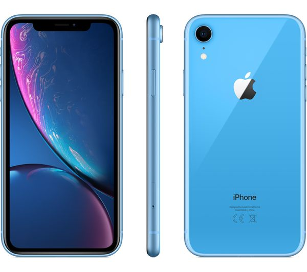 buy apple iphone xr pay as you go micro sim card bundle 64 gb blue free delivery currys